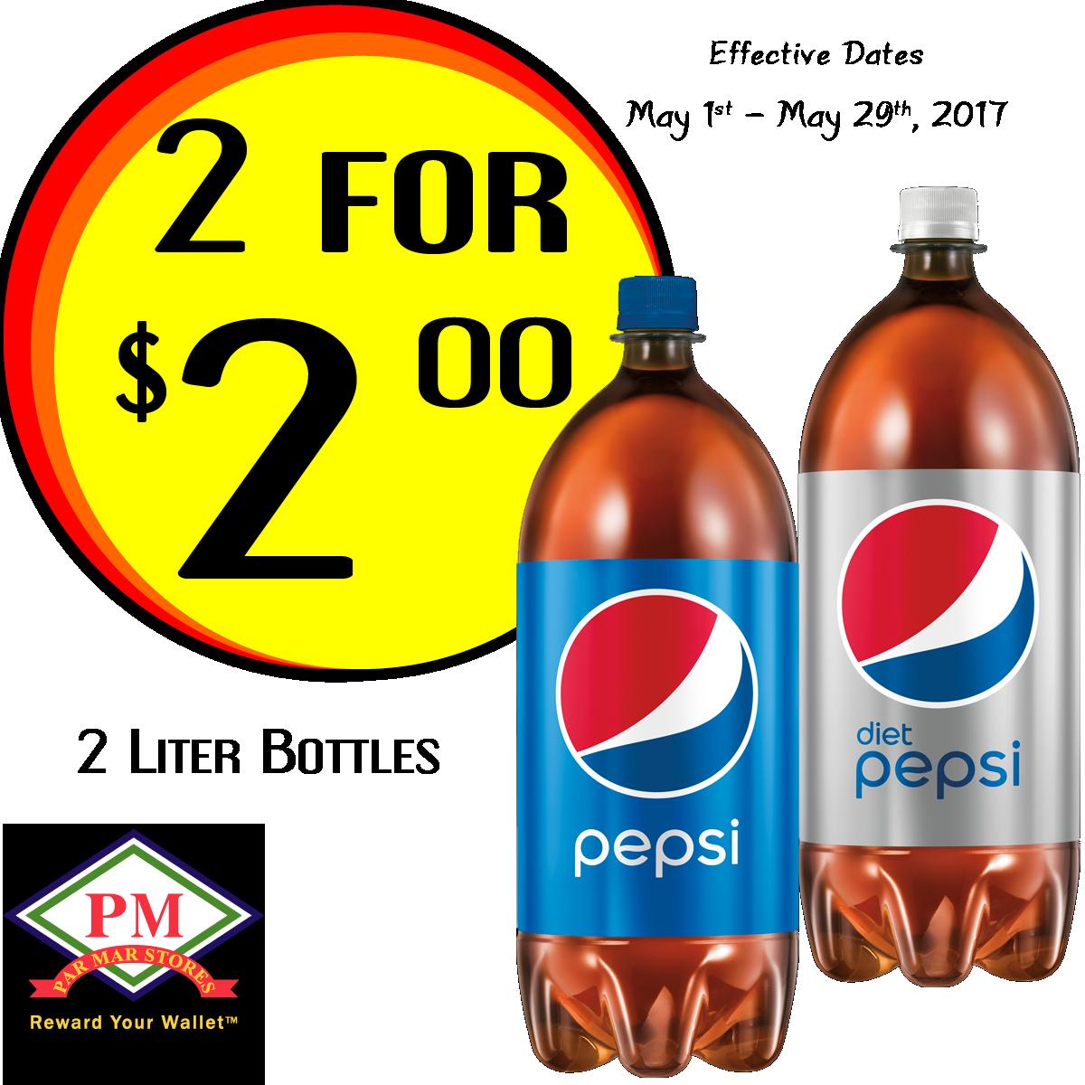 Pepsi 2 liter Promo Exported