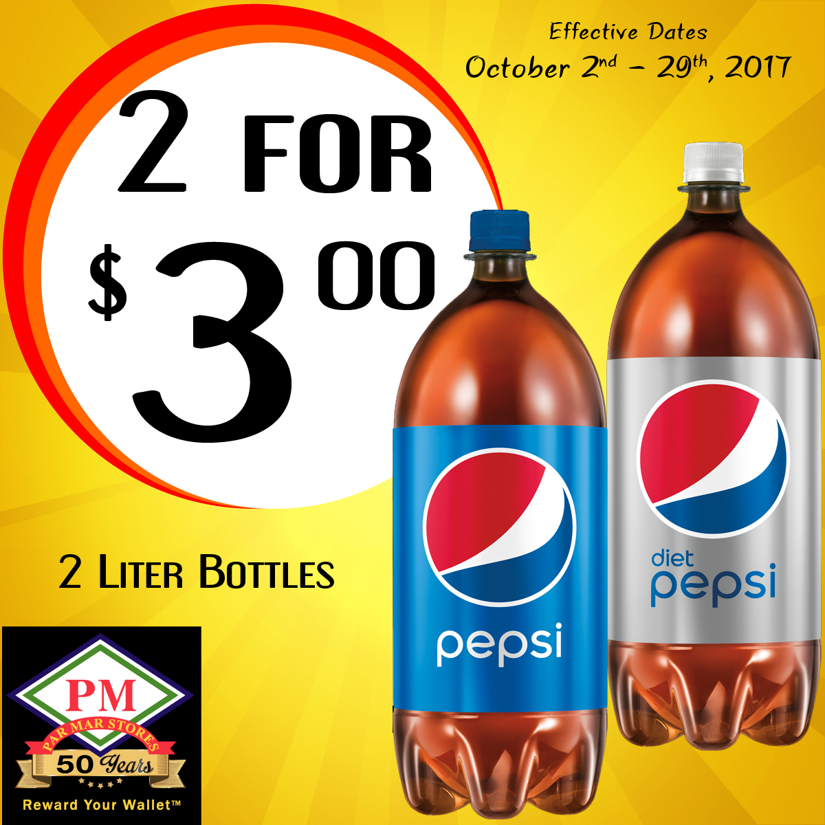 Gold Pepsi 2 liter Promo Exported-100