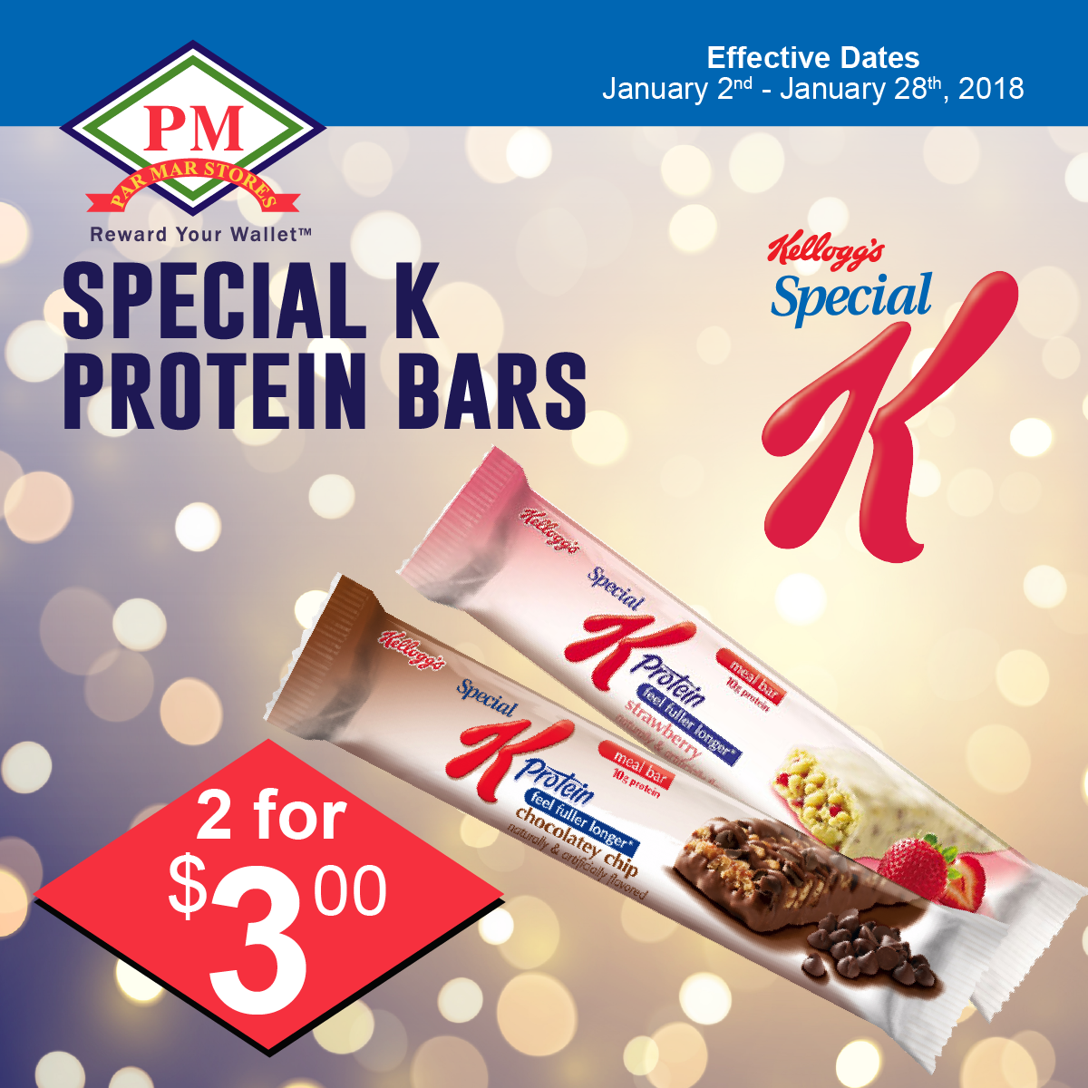 Speciall K protein bars