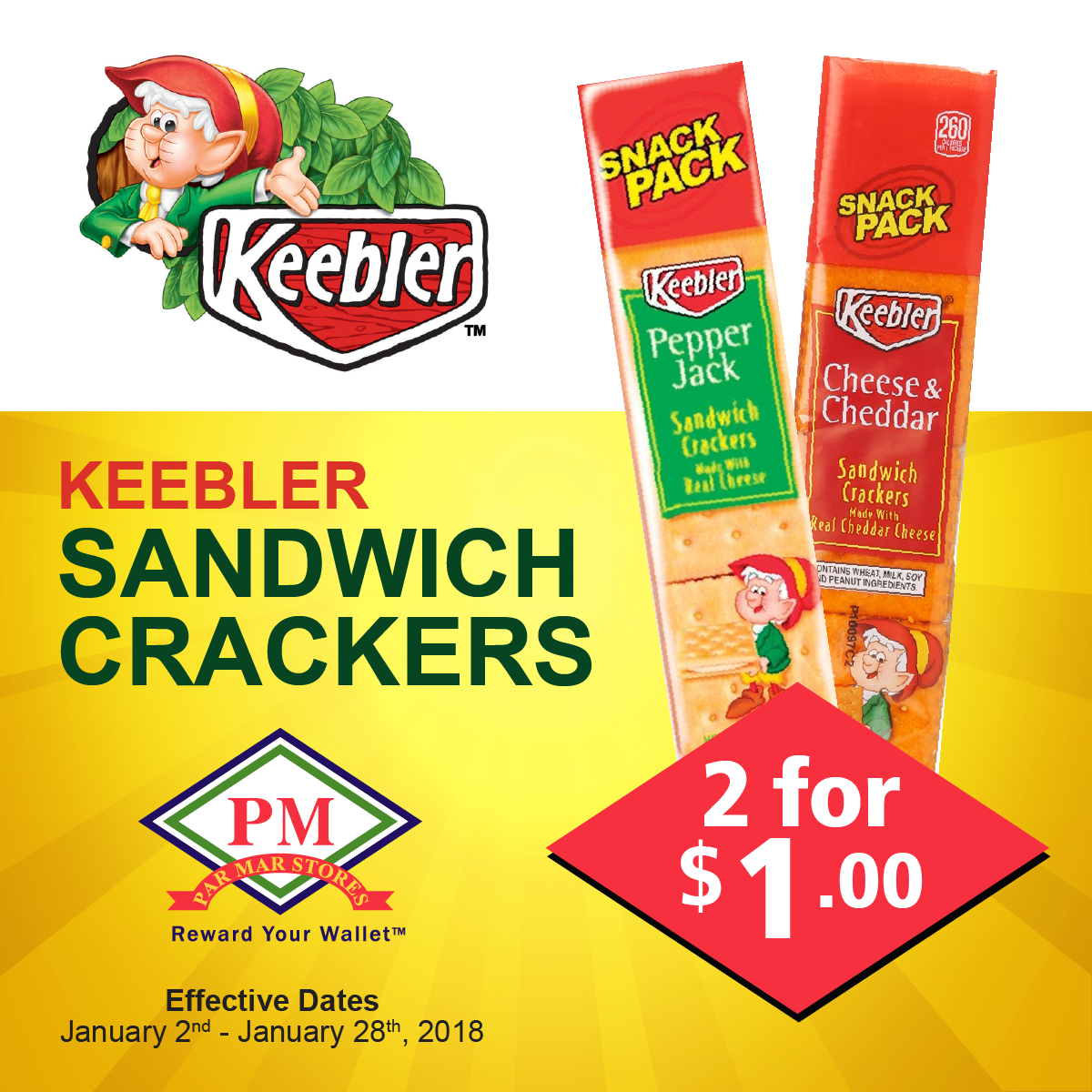 keebler sandwich crackers