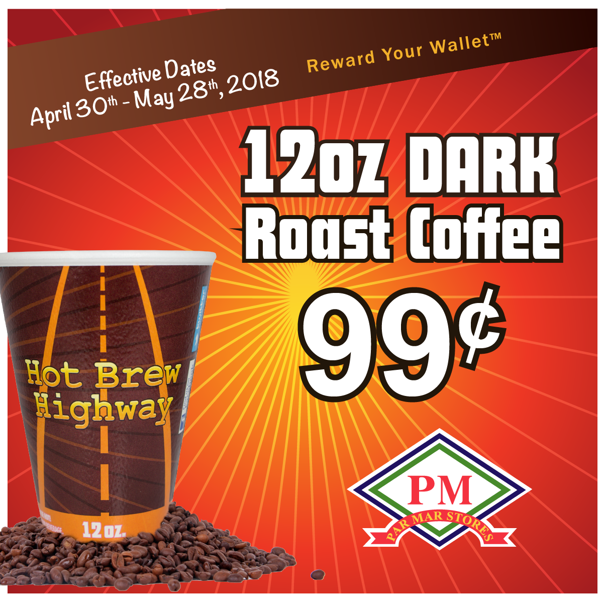 12 oz dark roast coffee