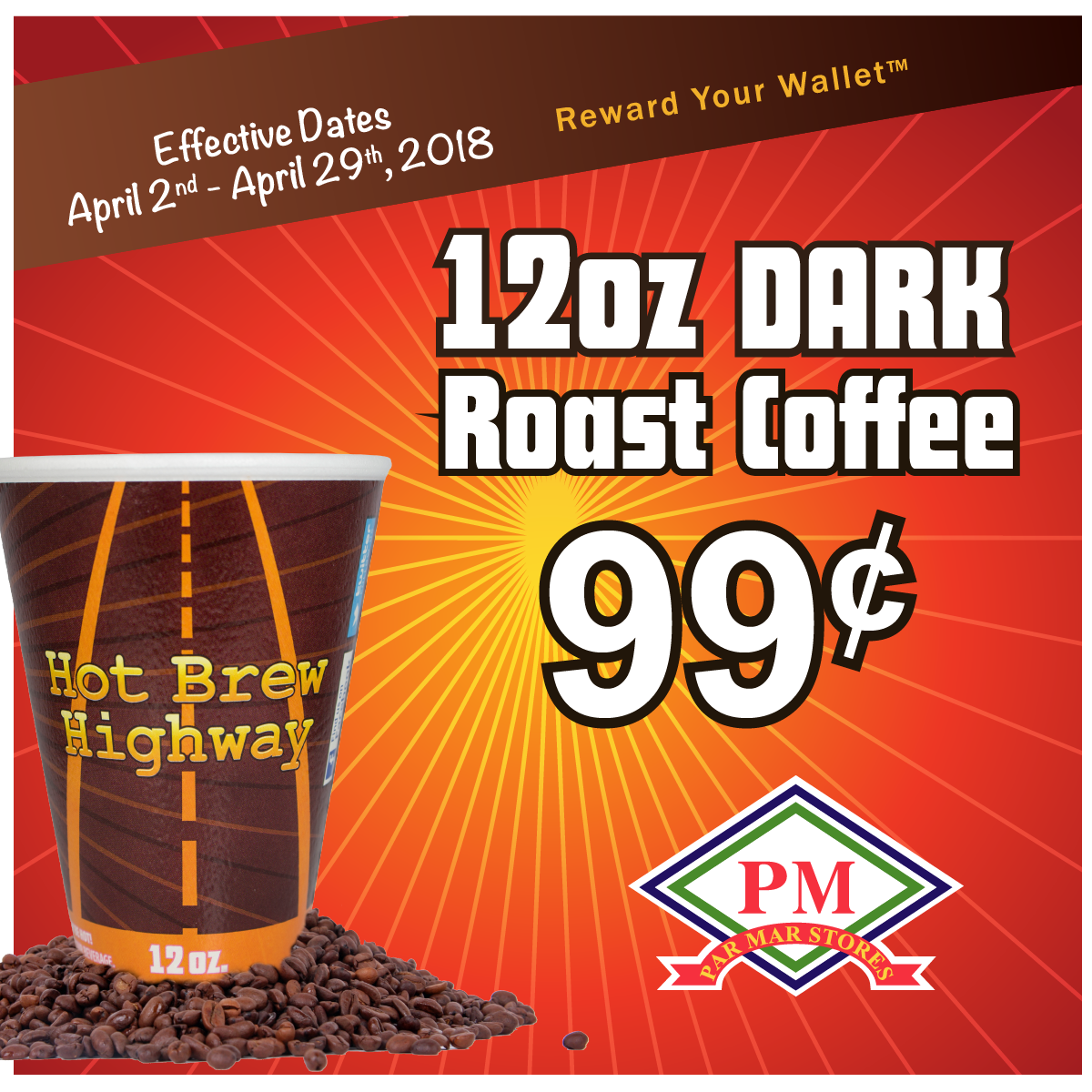 12 oz dark roast coffee
