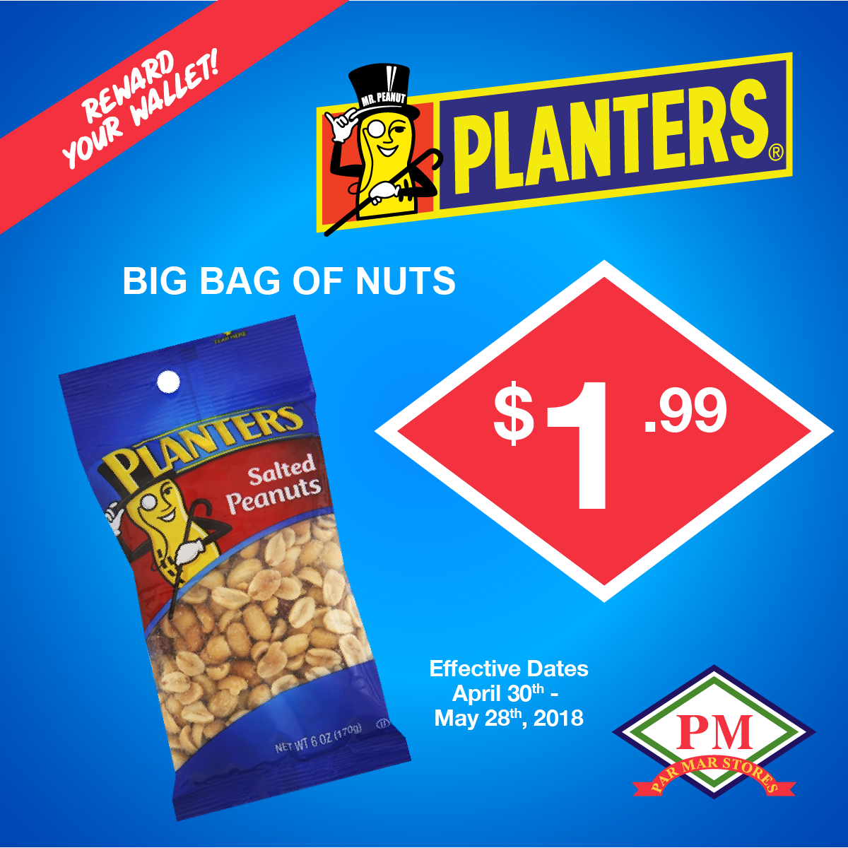Planters big bag of nuts