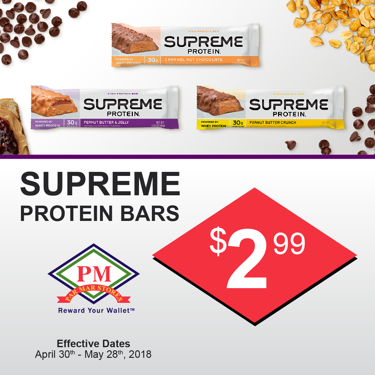 supreme protien bars